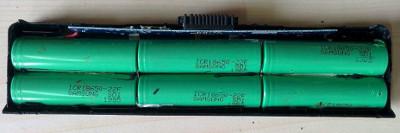 Разобранный аккумулятор от ноутбука
