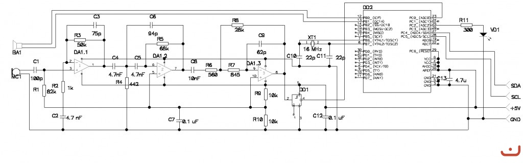 Также ультразвуковые измерители уровня схема